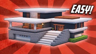 Minecraft: How To Buİld A Large Modern House Tutorial (#32)