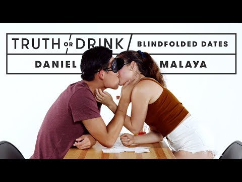 Blind(folded) Dates Play Truth or Drink | Truth or Drink | Cut