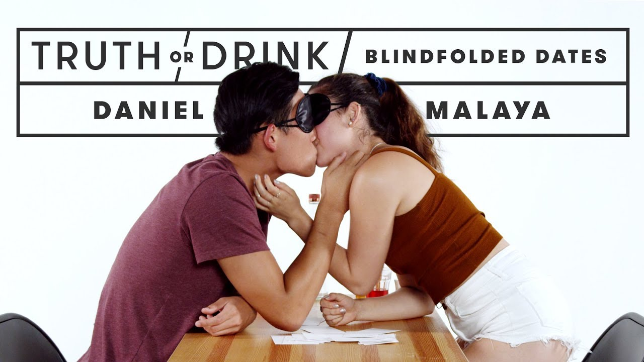Blind(folded) Dates Play Truth or Drink   Truth or Drink   Cut