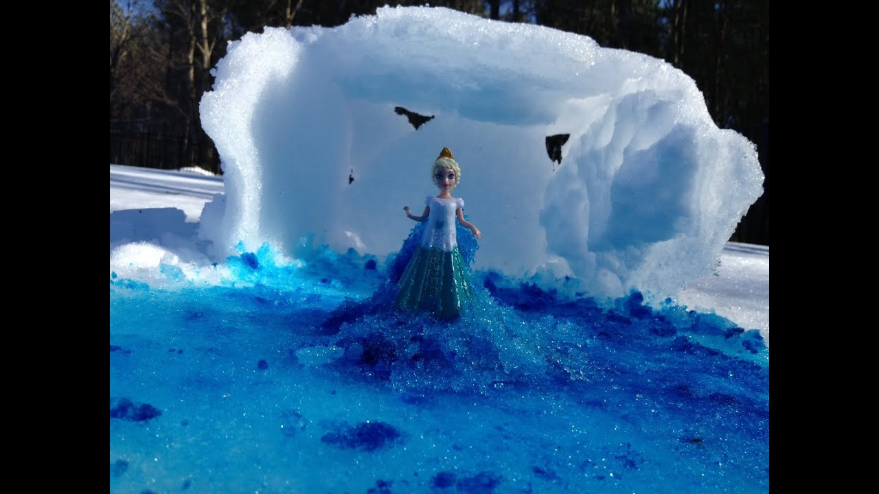 FROZEN SNOW Tutorial Queen Elsa How To Make The Movie Ice Palace