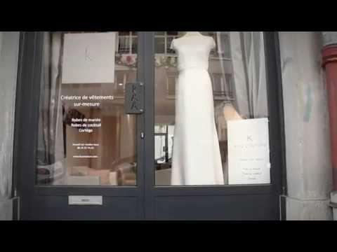 vidéo du showroom / atelier de kaa couture. créatrice sur mesure à Lyon de robes de mariée, robes de cocktail et tenues de cortège