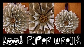 DIY: Book Paper Cone Wreath ♡ Theeasydiy #ChristmasWithJess