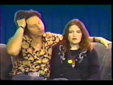 X the band John Doe Exene Cervenka host late nite show 1987 adorable,funny