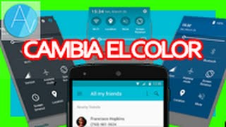 Como cambiar el color de la Barra De notificaciones FACIL Y RAPIDO