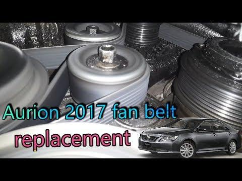 How To Change Toyota Aurion 2017 Fan Belt | Aurion Engine Fan Belt | Aurion Drive Belt Replacement