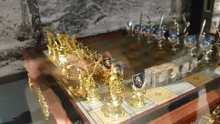 Harry Potter golden silver precious magical chess set in Harrods