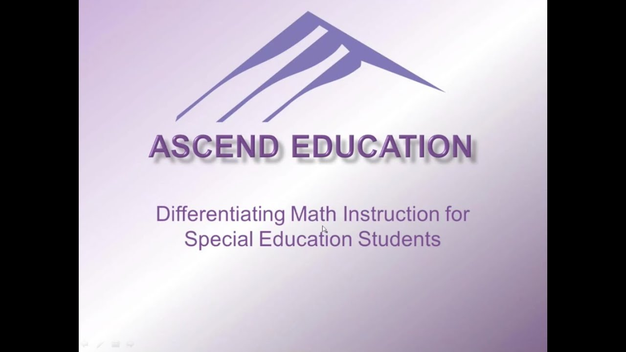 Differentiating Math Instruction For Special Education Students