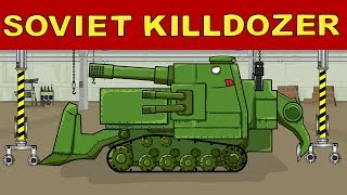 """Soviet Killdozer""  Cartoons about tanks"