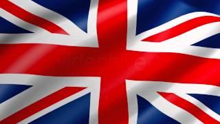 UK United Kingdom Flag Waving Loop 4K