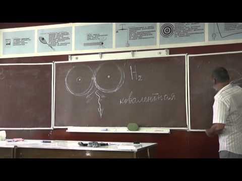 006 Ковалентные связи полярные и неполярные; молекулы водорода и кислорода; вода