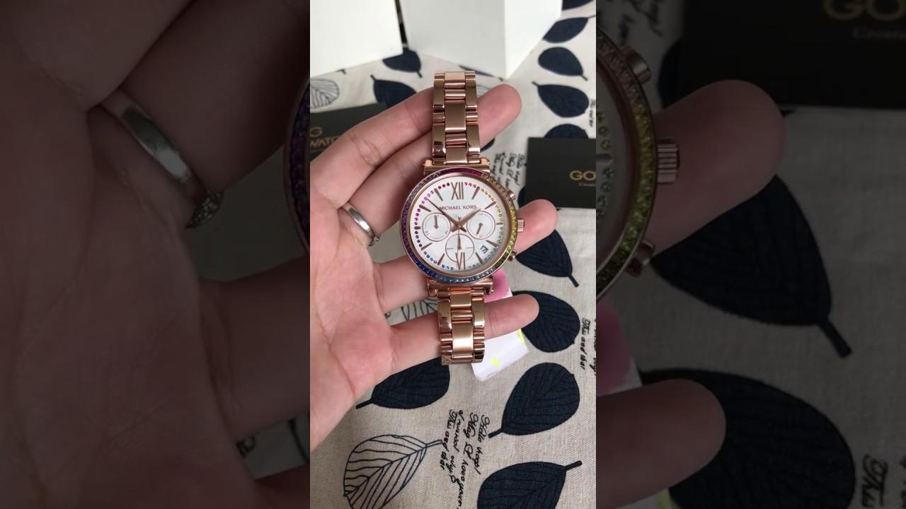 3c356eba466c Michael Kors Watches Womens Sofie Rose Gold-Tone Watch MK6577 - YouTube