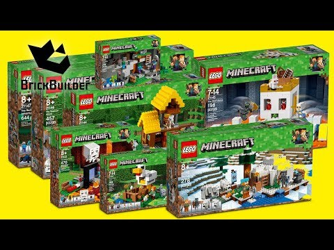Compilation All Lego Minecraft 2018 Speed Build Youtube