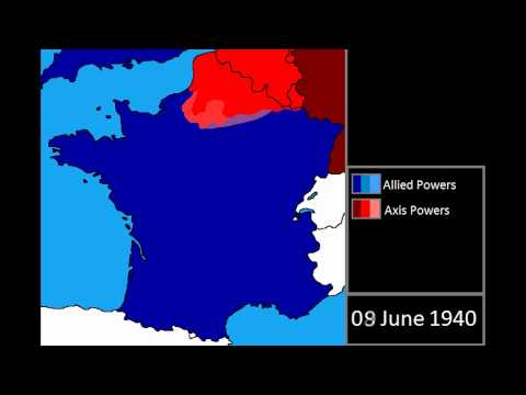 Map Of France 1940.World War Two Nazi Invasion Of France Everyday