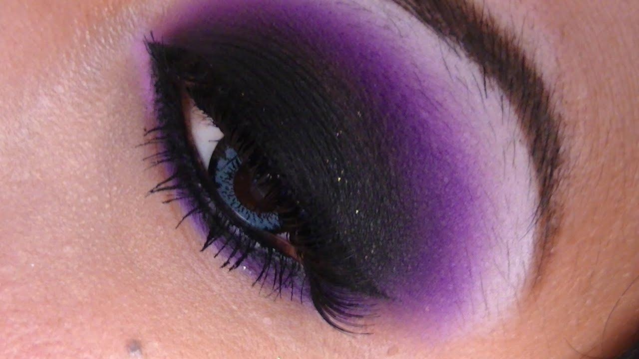 maquillaje de noche color morado