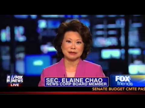 Sen. McConnell's Wife Elaine Chao Rips 'Left Wing' For Attacking Her With 'Racial Slurs' On Fox