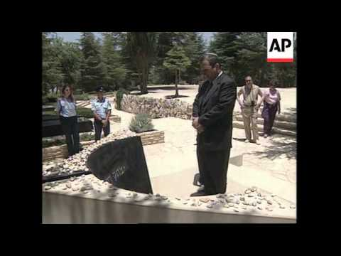 ISRAEL: NEW ISRAELI LABOUR PARTY LEADER VISITS GRAVE OF YITZHAK RABIN
