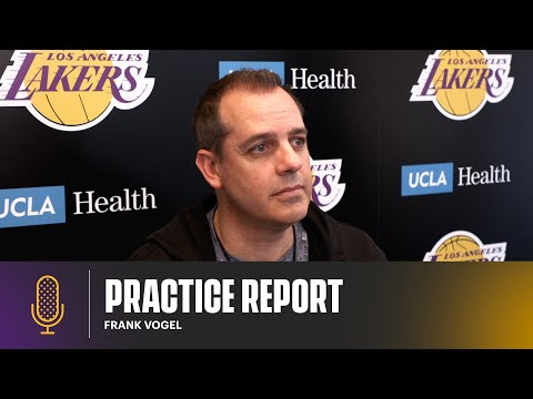 Frank Vogel gives player updates and adjustments for Game 5 | Lakers Practice