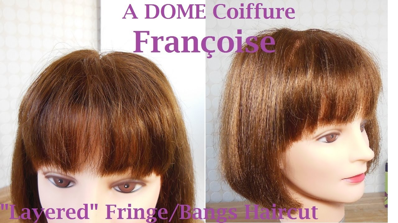 coupe frange d grad e effil e corte flequillo en capas bangs haircut with layers youtube. Black Bedroom Furniture Sets. Home Design Ideas