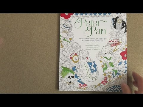 Peter Pan Coloring Book flip through