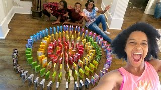 INSANE CANDY DOMINO SPIRAL!!