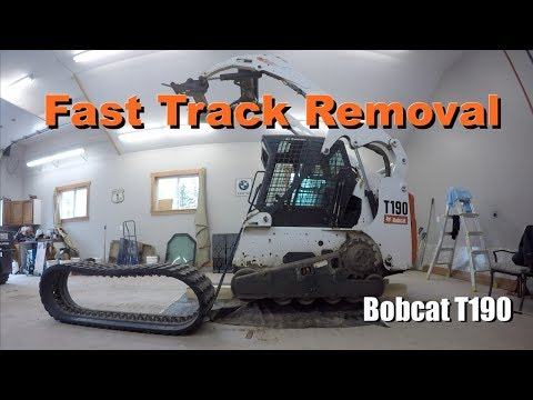 Fast Track Removal~Bobcat T190 - YouTube