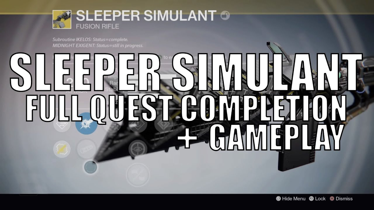 how to get new sleeper simulant