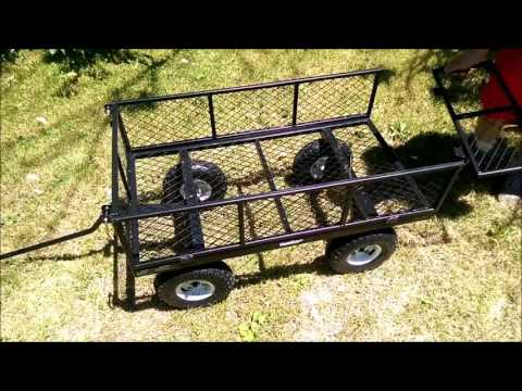 Yardworks 900 lb. Steel Utility Cart Review