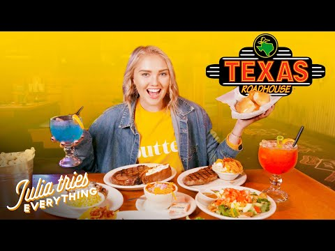 Trying ALL Of The Most Popular Menu Items At Texas Roadhouse