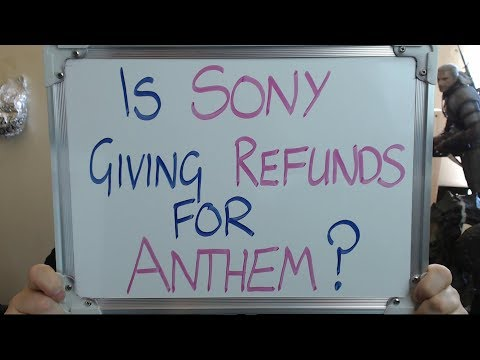 SONY Giving REFUNDS for ANTHEM after PS4 Crashing!!