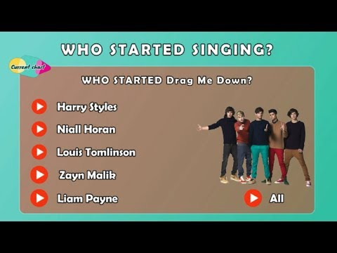 WHO STARTED SINGING ( One Direction Songs )