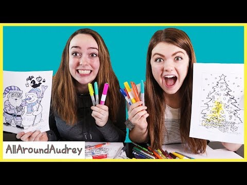 3 Marker Challenge Christmas Coloring Challenges / AllAroundAudrey