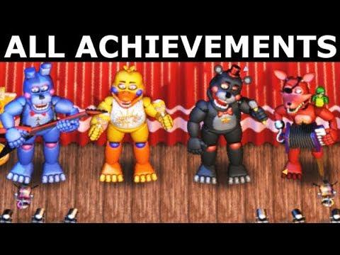 FNAF 6 - How To Get All The Band Achievements (Freddy Fazbear's Pizzeria Simulator)