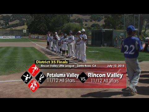 District 35 Championship: Rincon Valley vs Petaluma Valley, 7-12-15