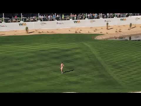 Streaker at 2018 Waste Management Phoenix Open Pro-Am