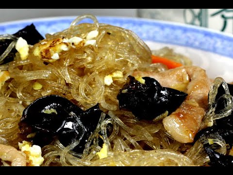 Mung Bean Thread Noodle With Pork Youtube