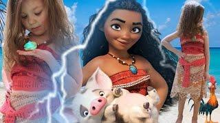 МОАНА МУЛЬТИК ПРЕВРАЩЕНИЕ В МОАНУ Принцессы Диснея в реальной жизни для детей MOANA Disney