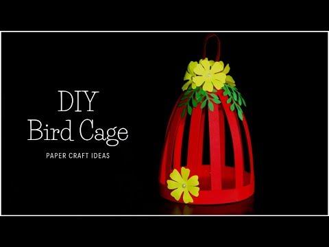 Bird Cage DIY | Paper Craft Ideas | DIY Home Decor | Paper Decorations