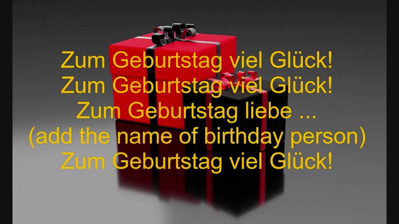 alles gute zum geburtstag text german happy birthday lyrics