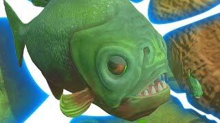ОПАСНЕЙШИЕ РЕЧНЫЕ РЫБКИ! КРОВОЖАДНЫЕ ПИРАНЬИ! РЫБИЙ ЧЕЛЛЕНДЖ! FEED AND GROW FISH