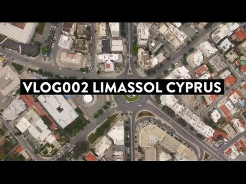 Vlog002 - Cruising Limassol Molos on a Cloudy Cyprus Winter day , with some roundabout aerial video.