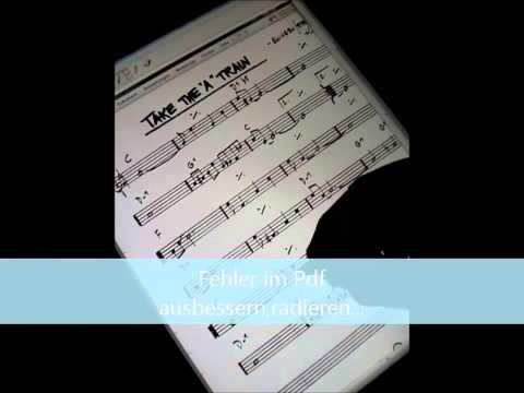 Tablet PC als Musikertool 1-Leadsheet ausbessern und verändern-Stifteingabe