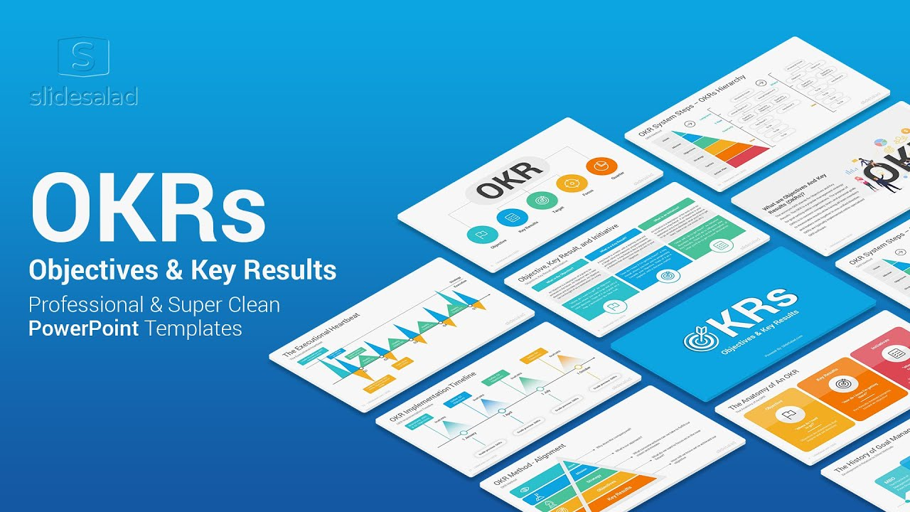 OKR PowerPoint Template – Objective and Key Results Slides