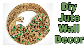 Diy jute craft / Diy peacock jute craft / Diy wall decor with jute /Jute craft ideas / Jute crafts