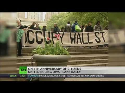 Occupy Wall Street to protest 4th anniversary of Citizens United