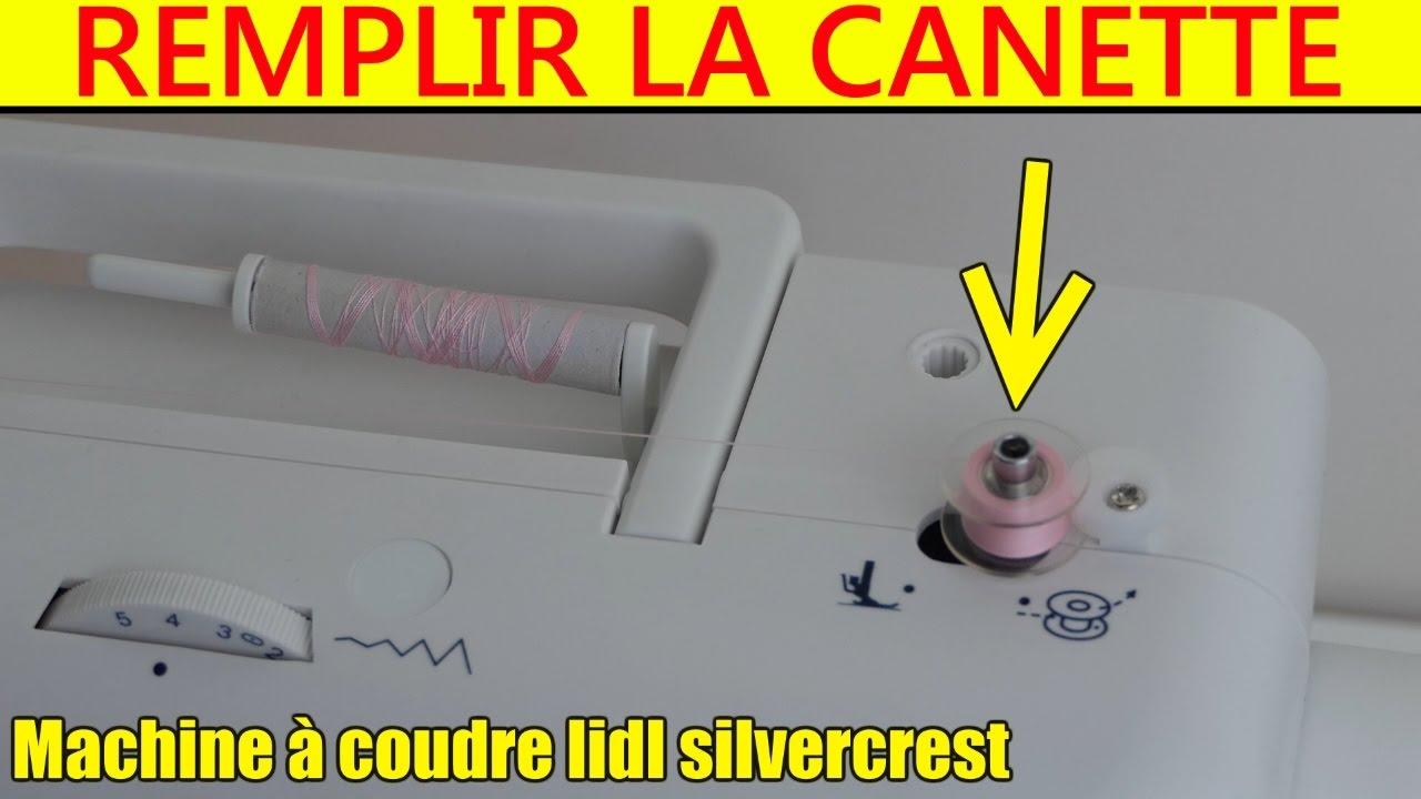 Lidl machine coudre remplir la canette silvercrest snm33 for Machine a coudre 2016 lidl