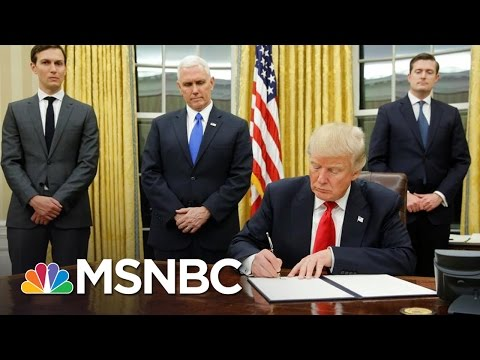 President Donald Trump Signs Executive Order On TPP, More | MSNBC