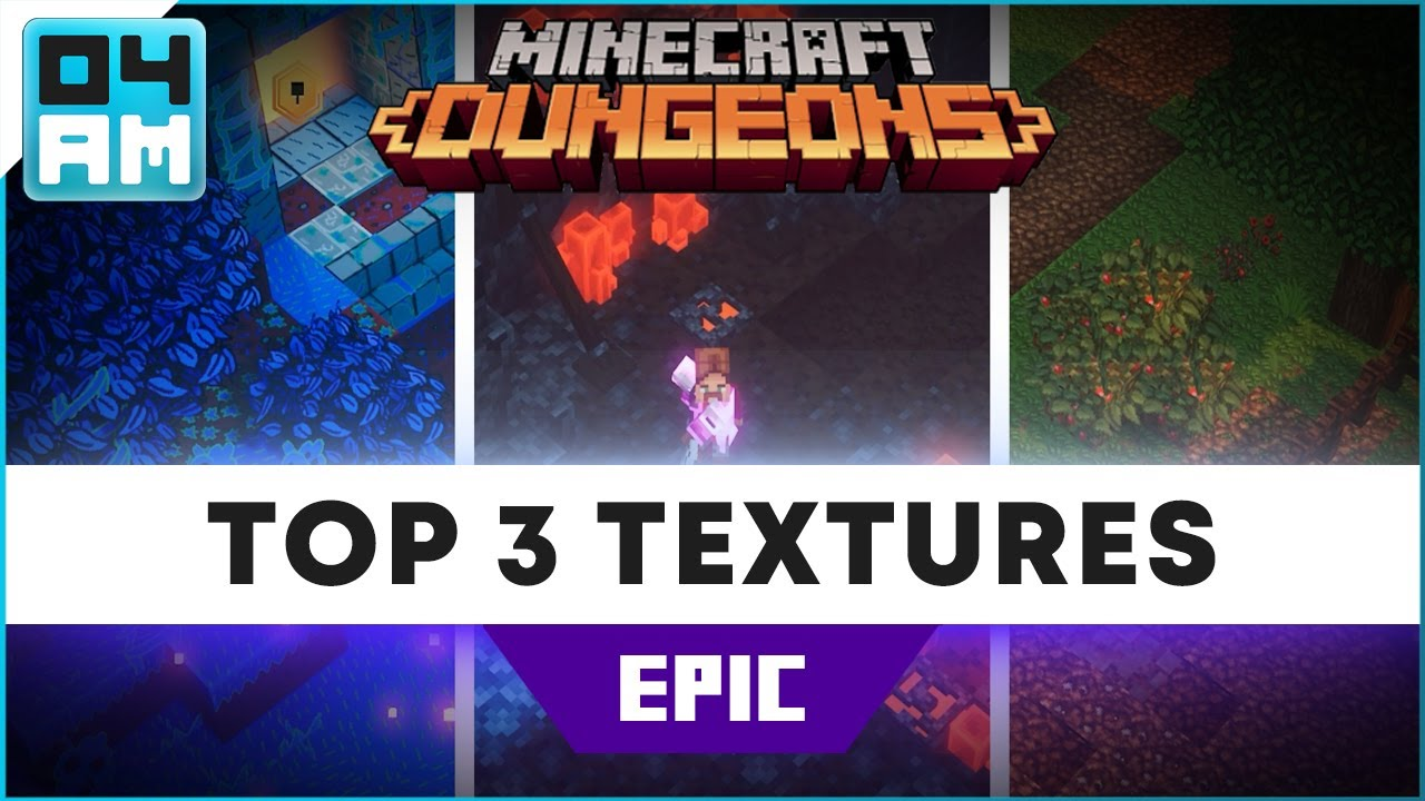 TOP 3 Texture Packs for Minecraft Dungeons (NEW) YouTube