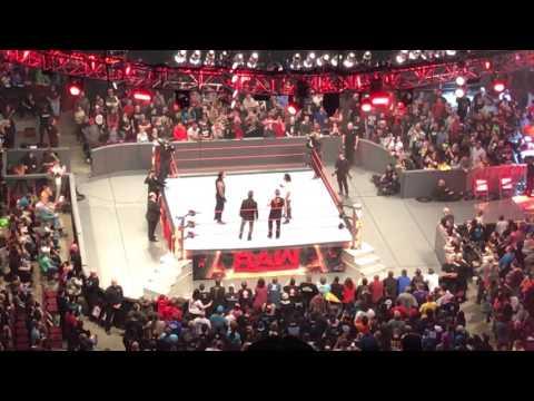 Raw Opening Promo and Huge Brawl 1/16/17 Little Rock, Arkansas
