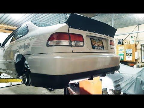 Installing A 99-00 Rear Lip On A 96-98 Honda Civic