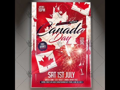 Canada Day Party - Premium Flyer PSD Template